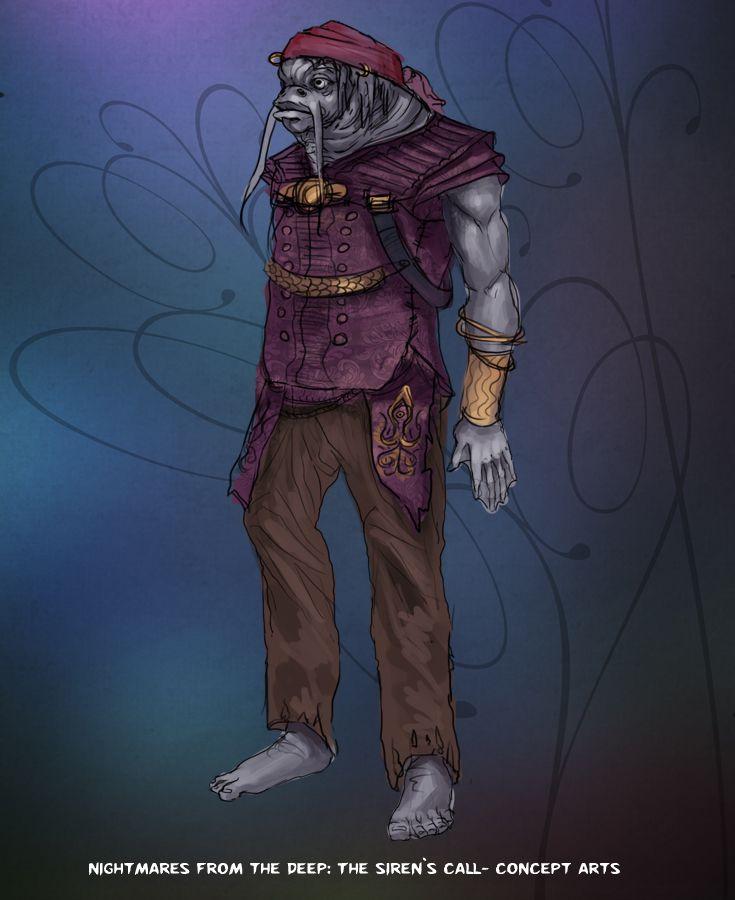 Catfish guy. #nightmares #kraken #artifexmundi  www.facebook.com/NightmaresFromTheDeep    http://www.artifexmundi.com/page/piraci2