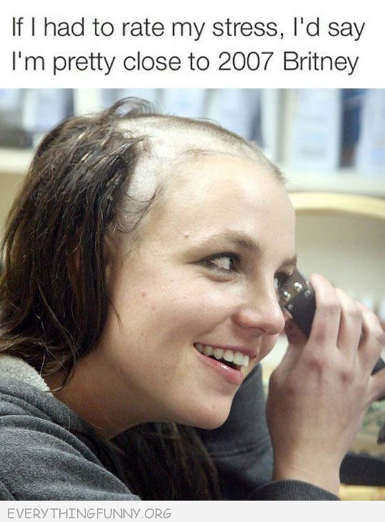 funny if i had to rate my stress in would 2007 Britney