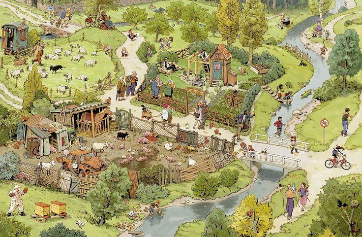 Praatplaat platteland voor kleuters