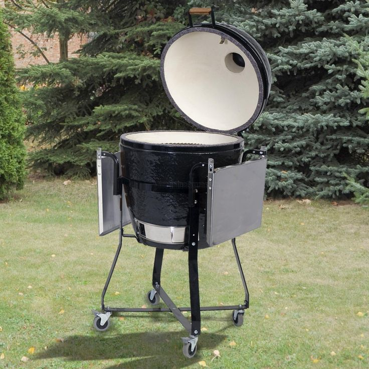 primo cradle and kamado grill with stainless steel side tables kit is one of the best - Kamado Grills