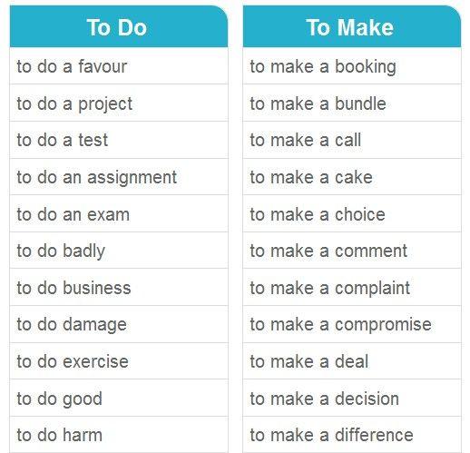 To do & To make 4
