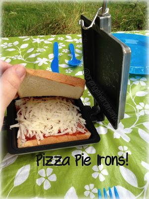 Pizza Pie Irons, Camping food,