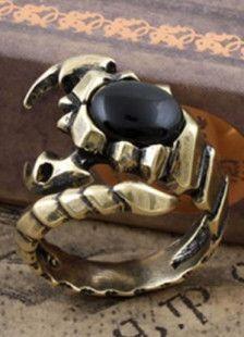 Anillo ajustable escorpión diseño metálico de los hombres