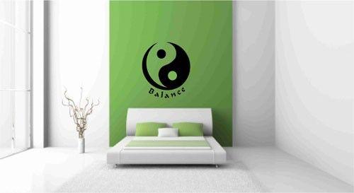 Yin Yang Decal, Asian Wall Decals, Symbol decals, Yoga studio decor, Asian Room Decor, Martial Arts Decor, Tai Chi Room Decor, Asian  Art by Popitay on Etsy https://www.etsy.com/listing/61719549/yin-yang-decal-asian-wall-decals-symbol