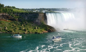 Groupon - One-Night Stay with Breakfast, Dining Credit, and Shuttle Passes at Courtyard by Marriott Niagara Falls in Niagara Falls. Groupon deal price: $89.00