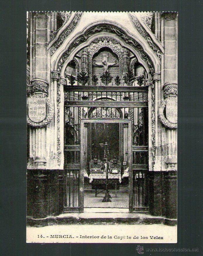 MURCIA INTERIOR DE LA CAPILLA DE LOS VELEZ - Sin Edición - Postal (Postales - España - Murcia Antigua (hasta 1.939))