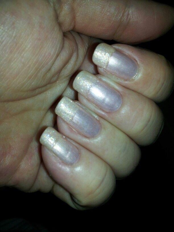 Frans manicure glitter