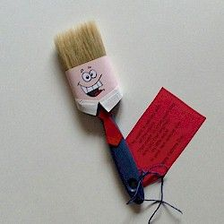 Father's Day Paintbrush and Printable Poem. A craft that is fun and useful too. Maybe Dad will take the hint and start on that painting project for your room. www.freekidscrafts.com.
