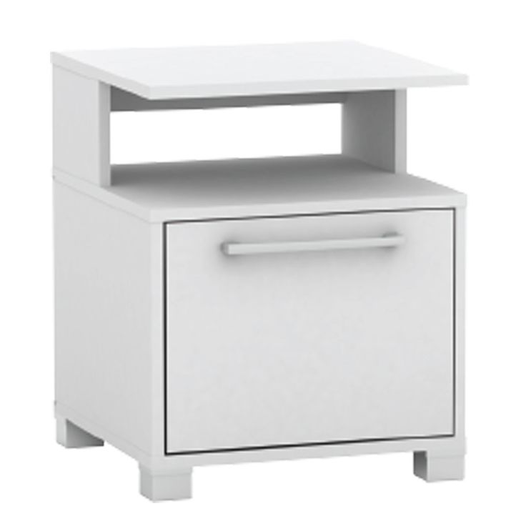 Bedside table Decon MB white 40x40x50 Ε7723,1-ΜΒ