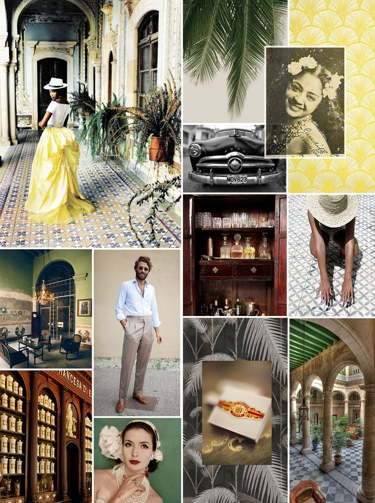 Old Havana Inspiration Board- Jet Blue has started friday flights. Hoping Cuba doesn't change too much <3