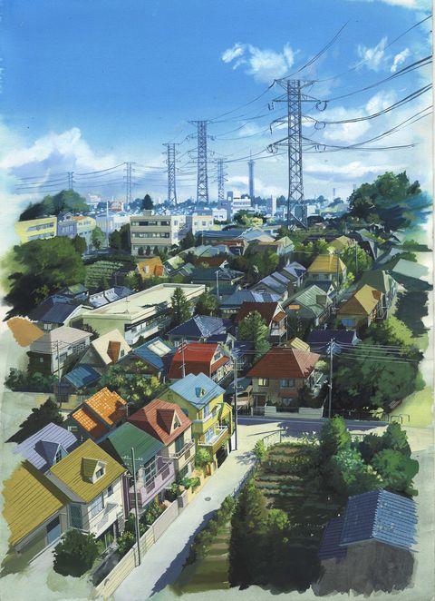 「街並み」/「ふぐたん(wistelia)」のイラスト [pixiv]