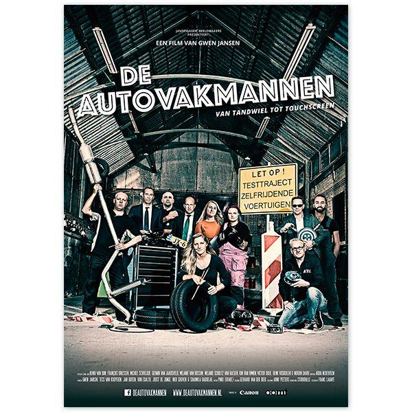 Filmposter voor 'De Autovakmannen' By studio Hille / Hilda Groenesteyn Fotografie: Frans Lahaye