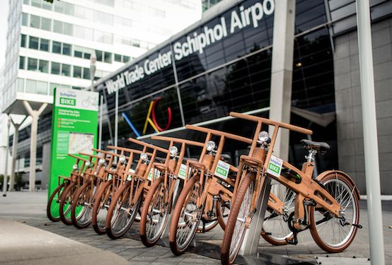 SCHIPHOL CBD * YOUR SCHIPHOLBIKE  * A fully automated bike lending system for people working at Amsterdam Airport Schiphol. Designer wooden bikes, free of costs! schiphol.nl/yourschipholbike