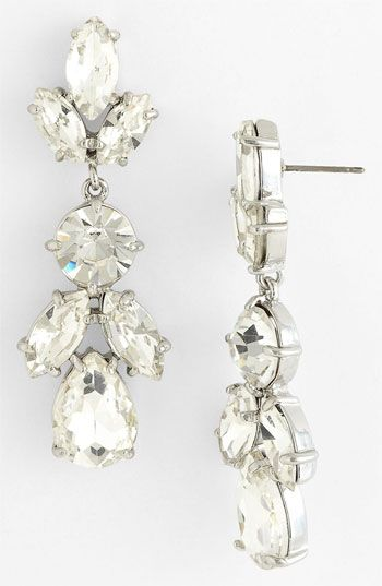 kate spade new york 'crystal petals' drop earrings | Nordstrom