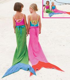 mermaid towels >>> Too cute! Perfect for your beach trip this year!