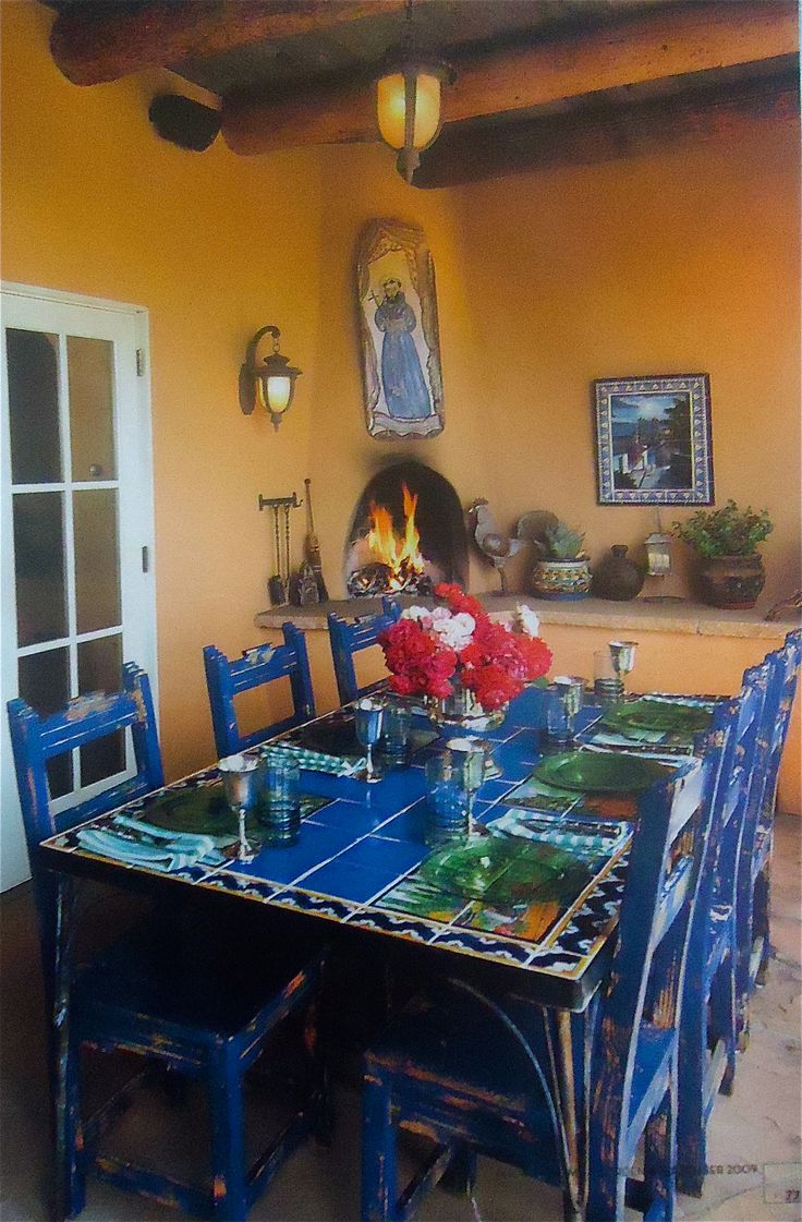 182 best images about mexican kitchens home decor on for Mexican dining room ideas