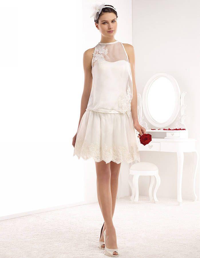 Robe de mariée courte années 20 Pronuptia printemps-été 2015