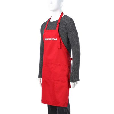 """Flirty Aprons Men's """"Kiss The Cook"""" Apron in Red"""