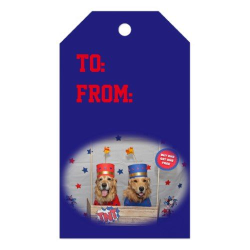 Golden Retriever Firecrackers For Sale Gift Tags
