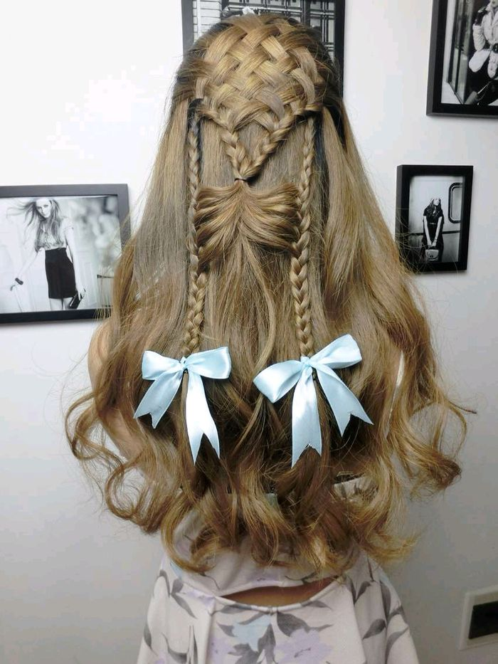 style for hair bow hairstyles with curls hair 5842
