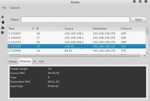 pycket is A simple python packet sniffer and manipulation tool.