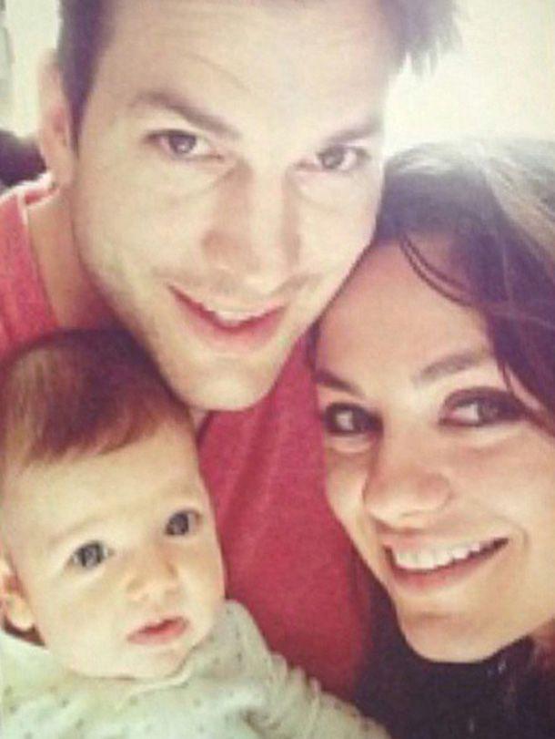 baby Wyatt, Mila Kunis Ashton Kutcher