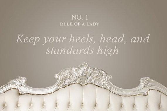 Quote Decal  Heels Head & Standards High by RefinedVinylDecals, £14.20