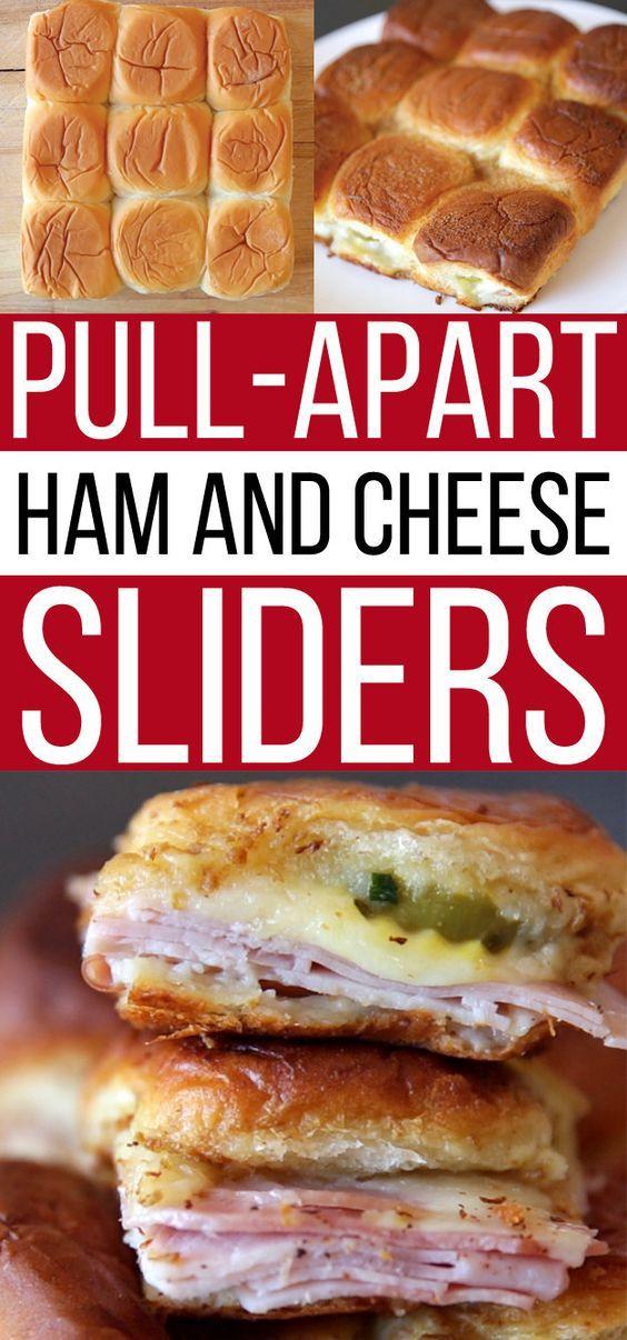 Homemade Pull-Apart Ham and Cheese Sliders, yum!