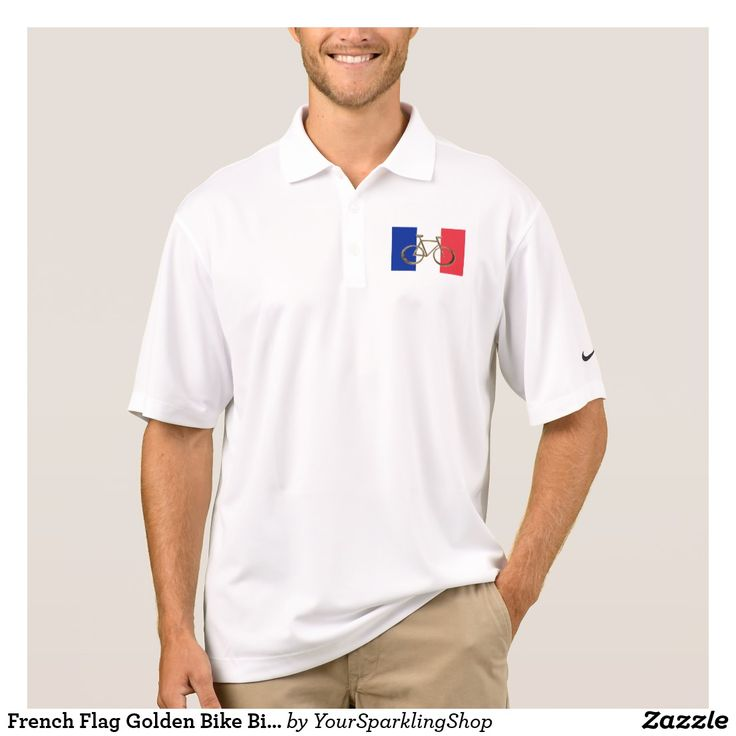 French Flag Golden Bike Bicycle Cycling Cyclist Shirt