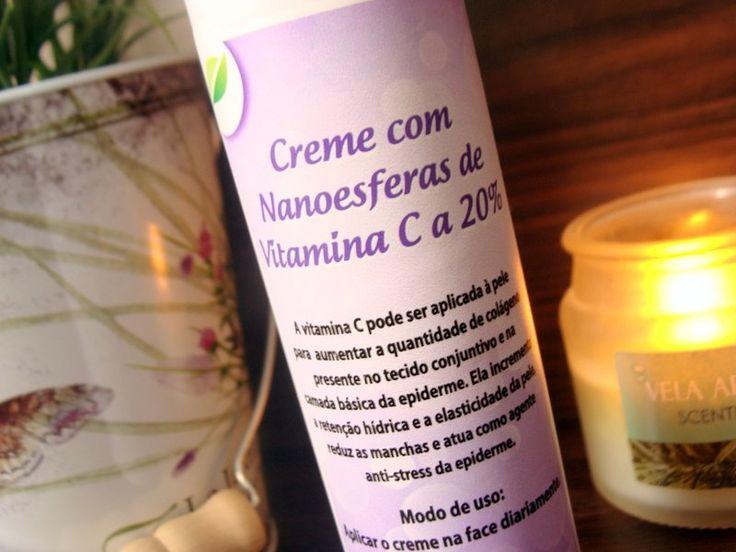 Creme com nanoesferas de vitamina C Art Vitta: refina, ilumina, hidrata, melhora a firmeza e o viço, mantém a pele protegida, bonita e saudável!