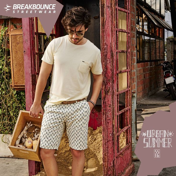 Printed shorts are setting the tone for style this summer! Geometric prints paired with the solid coloured tees are the chillest way to beat the heat #menswear #mensstyle #fashion #style #streetwear #summer #shorts #outfits #prints #men #mensbloggers #bloggers breakbounce.com