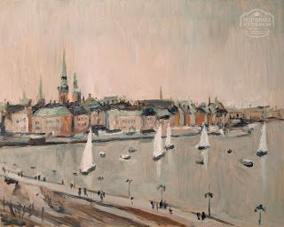 Stockholm. Oil on wooden panel, 50x40cm by Briex
