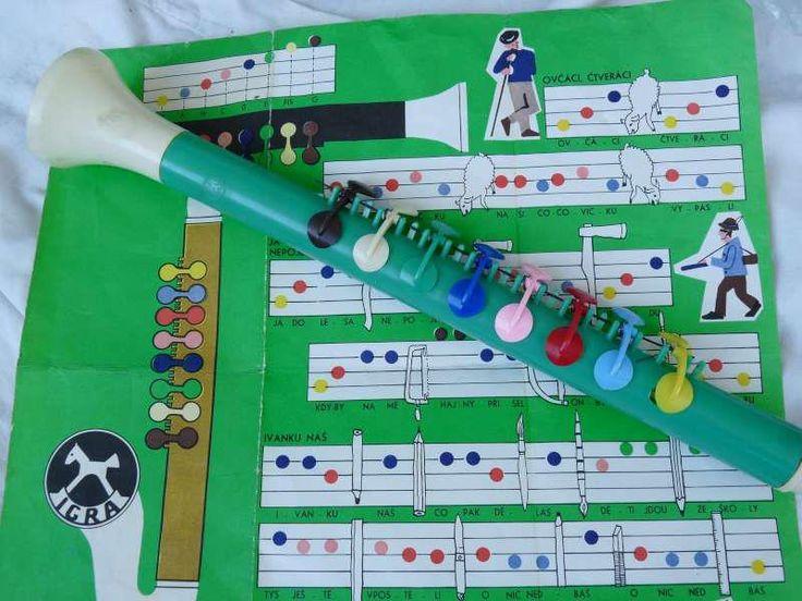 Flauta s farebnými notami