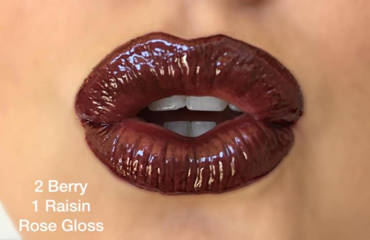 Berry and Raisin LipSense with Rose Gloss. A great way to layer this smudge proof lipstick