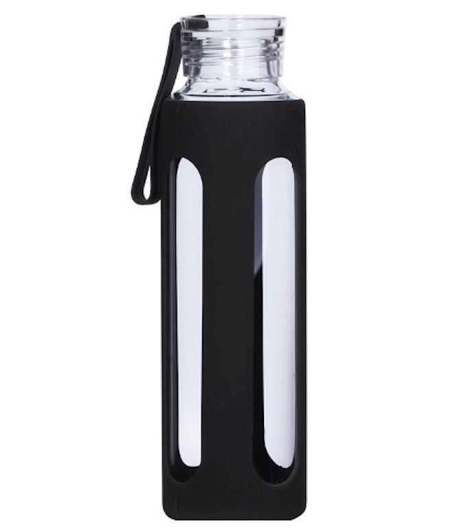 Glass Water Bottle with Silicone Sleeve #Unbranded