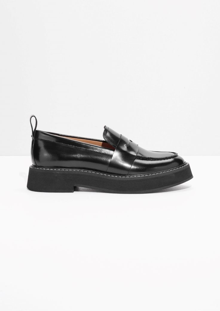 & Other Stories image 1 of Chunky Loafers in Black
