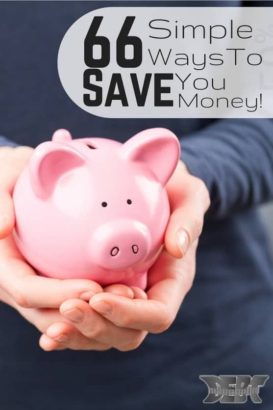 There are hundreds of ways to save money when you really look at them. Unfortunately, some can be overwhelming or difficult. Here are 66 ways to save money.