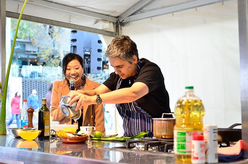 Vegilicious - Vegetarian Cooking Demonstration.  Several prominent Chefs and cooks from some of Melbourne's finest establishments will feature in the Buddha's Day and Multicultural festival on the 26 & 27 of April at Federation Square - Melbourne Australia