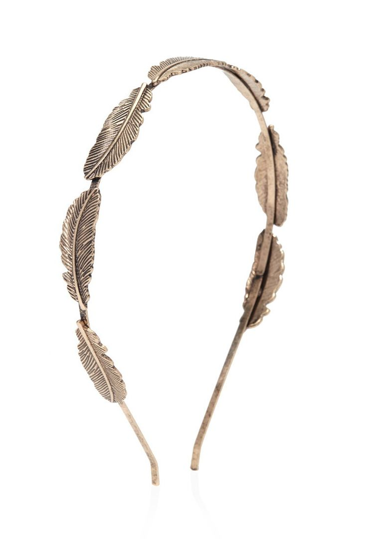 Etched Feather Headband | Forever 21 - 1000173405