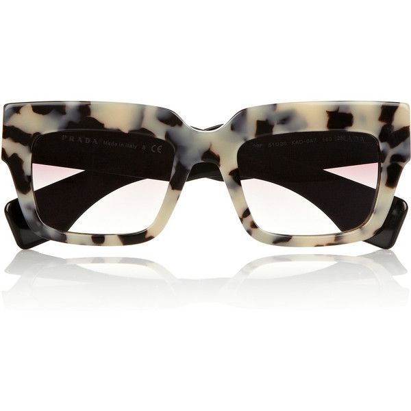 Prada Square-frame acetate sunglasses ($180) ❤ liked on Polyvore featuring accessories, eyewear, sunglasses, glasses, prada, tortoiseshell, tortoiseshell sunglasses, square frame sunglasses, tortoise sunglasses y tortoise shell glasses