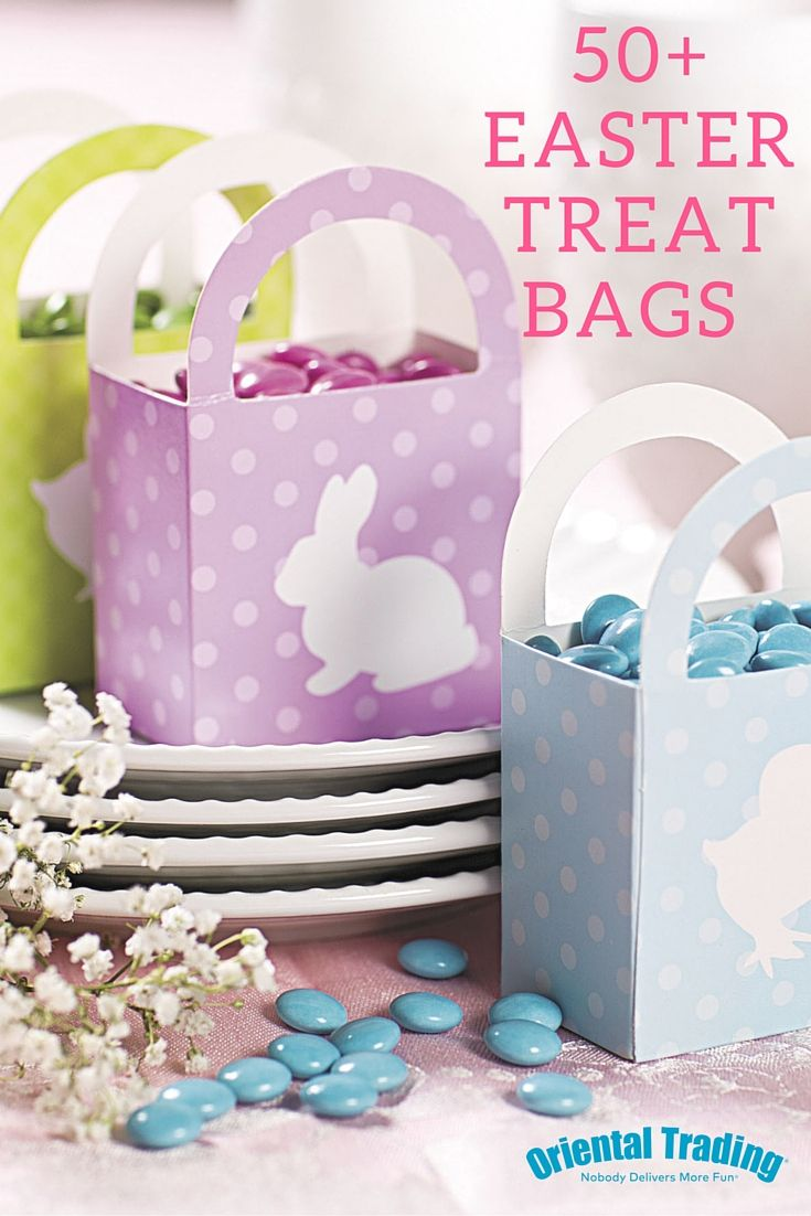 259 best easter images on pinterest christmas tree crafts 50 easter treat bags for your guests to stash away their goodies pick through an negle Images