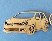 VW Golf 6 Keychain, Personalized Key Chain, Car Keychain, Keychain VW, Custom Keychain, Stainless Steel Keyring, Original Personalized Gift