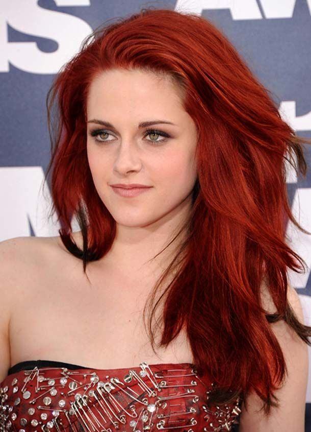 Kristen Stewart Natural Red Hair Dye Colors Hair