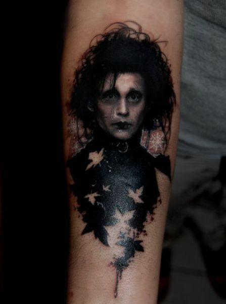 Edward Scissor Hand Tattoo