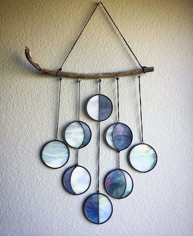 Moon phases How gorgeous is this stained glass art by goddess @dandelionglassart?? Please add to our wishlist of items for our home!