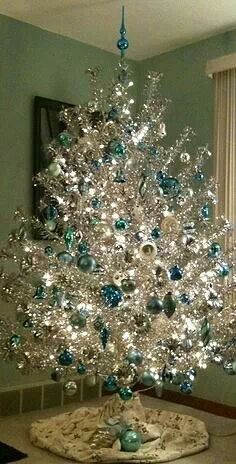 83 best CHRISTMAS Tinsel Trees images on Pinterest | Vintage ...