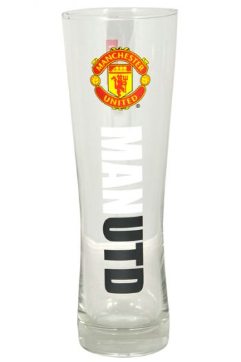 Manchester United Wordmark Crest Peroni Pint Glass 220x330 Perfect Gifts For Manchester United Fans