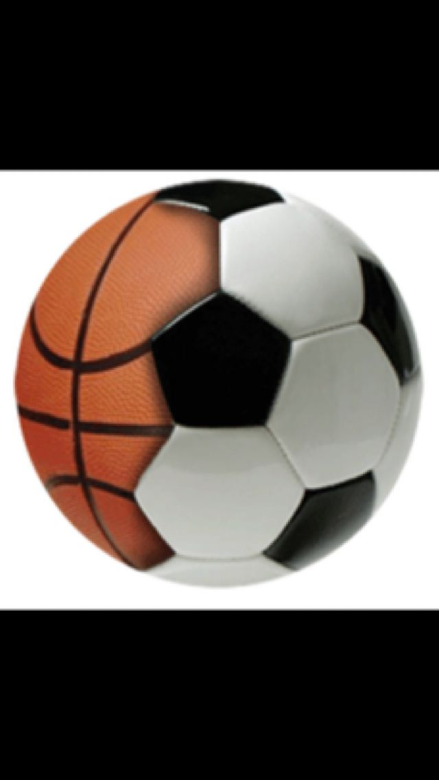 Soccer And Basketball Combination Sports Football Basketball And White Background Tumblr Baloncesto Futbol
