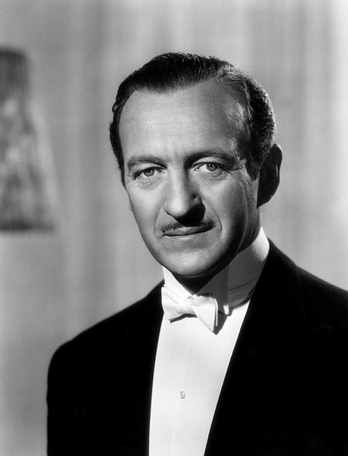 David Niven (born 1 March 1910 in London, England, died 29th. July 1983 in Château-d'Œx, Swtizerland)