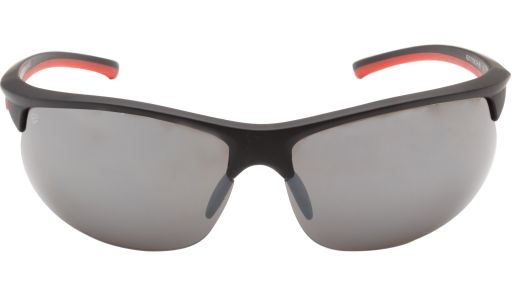 The unique design of these semi rimless men's wraparound sunglasses from the #Erroca Sports Collection is combined plastic and rubber, making them super lightweight and durable. Made for all extreme sports, the nose pads feature soft, non-slip rubber. Available in matte black with contrasting orange temples and polycarbonate, metallic mirrored lenses, these cool shades will give you much needed strength and protection from the elements as you make your way to the top.
